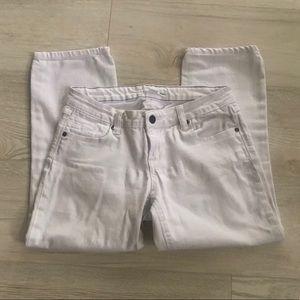 2.1 Denim White Skinny Capri Cropped Jean Pants